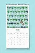 소띠해 (십이지신), 2021년, 달력, 벽걸이, 목업, 드로잉작품 (미술품), 겨울, 12월