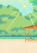 풍경 (컨셉), 계절, 자연풍경, 여름, 숲
