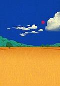 풍경 (컨셉), 계절, 자연풍경, 가을, 구름, 초원 (자연의토지상태)
