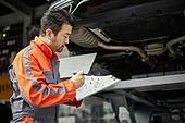 엔지니어 (전문직), 정비사, 자동차, 자동차정비소 (정비소), 정비사 (노동자), 정비소 (업무현장), 점검표 (목록)