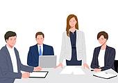 비즈니스, 화이트칼라 (전문직), 비즈니스맨, 비즈니스우먼, 협력, 팀워크 (협력), 팀워크