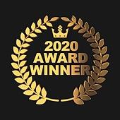 그래픽이미지 (Computer Graphics), 합성 (Computer Graphics), 상 (인조물건), 시상식 (세레모니), 2020년, 송년회 (연례행사), 연말 (홀리데이), 트로피, 3D