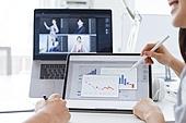 MCN, 비즈니스, 비즈니스 (주제), 스타트업, 비즈니스미팅 (미팅), 디지털태블릿 (개인용컴퓨터), 그래프