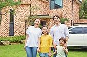 가족, 전원생활 (컨셉), 미소, 밝은표정, 행복, 손잡기 (홀딩)