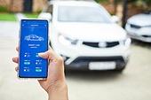 자동차, 스마트폰, 통제 (컨셉), Internet of Things (Internet)