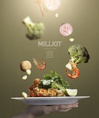 그래픽이미지, 합성, 음식, 이벤트페이지, 요리 (음식상태), 밀키트, 식사, 새우