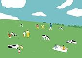 백그라운드 (주제), 풍경 (컨셉), 자연 (주제), 소 (발굽포유류), 신축, 새해 (홀리데이), 초원 (자연의토지상태), 풀 (식물), 휴양 (컨셉), 젖소