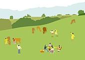 백그라운드 (주제), 풍경 (컨셉), 자연 (주제), 소 (발굽포유류), 신축, 새해 (홀리데이), 초원 (자연의토지상태), 풀 (식물), 휴양 (컨셉), 황소