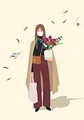 가을, 패션, 여성 (성별), 청년 (성인), 라이프스타일