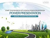 PPT,파워포인트,메인페이지,풍력발전기,태양열에너지,건물,도시,잔디,친환경