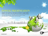 PPT,파워포인트,메인페이지,그린,에코,자연,에너지,플러그,전기,절약,전력,지구,세계지도