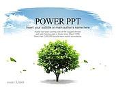 PPT,파워포인트,메인페이지,나무,하늘,자연,에코