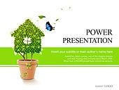 PPT,파워포인트,메인페이지,나뭇잎,집,화분,나비,자연,라이프,에코
