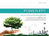 PPT,파워포인트,메인페이지,나무,손,도심,자연,친환경