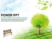PPT,파워포인트,메인페이지,벤치,나무,자연