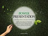 PPT,파워포인트,메인페이지,나뭇잎,원,프레임,손,돋보기,자연,환경