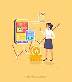 빅데이터 (인터넷), 자산관리, 스마트폰, 모바일앱 (인터넷), 소비 (컨셉), 돈다발 (금융아이템), 적금, 저축
