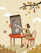 쇼핑 (상업활동), 휴대폰 (전화기), 연례행사 (사건), 가을, 스마트폰, 모바일쇼핑