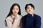 한국인, 대학생, 커플, 커플 (인간관계), 놀람 (컨셉)