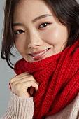 한국인, 스웨터, 목도리, 따뜻한옷 (옷), 겨울