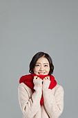 한국인, 스웨터, 따뜻한옷 (옷), 겨울, 응시 (감각사용)