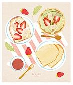 브런치 (식사), 서양음식 (음식), 탑앵글 (카메라앵글), 점심, 포크, 식탁용나이프 (커트러리)