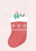 소녀, 겨울, 크리스마스 (국경일), 토끼 (토끼목), 캐릭터, 양말, 크리스마스양말