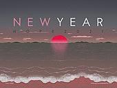 파워포인트, 메인페이지, 새해 (홀리데이), 2021년, 소띠해 (십이지신), 일출, 새해첫날, 백그라운드, 희망 (컨셉), 새로움, 시작