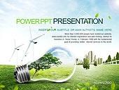 PPT,파워포인트,메인페이지,전구,자연에너지,그린,에코,친환경,풍력발전기,도시,건축물,산업