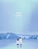 겨울 배경 일러스트 01