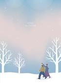 겨울,일러스트,풍경,배경
