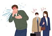 마스크 (방호용품), 코로나바이러스 (바이러스), 코로나19 (코로나바이러스), 라이프스타일, 기침, 기침예절 (예절)
