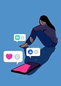 외로움, 정신건강 (주제), 우울, 스트레스, SNS (기술), 스마트폰