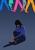 외로움, 정신건강 (주제), 우울, 스트레스, 군중, 여성 (성별)