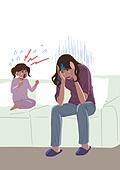 코로나19 (코로나바이러스), 코로나우울 (신조어), 엄마, 육아, 가사 (허드렛일), 스트레스, 울음 (얼굴표정), 어린이 (나이), 소파