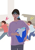 코로나19 (코로나바이러스), 코로나우울 (신조어), 엄마, 육아, 가사 (허드렛일), 스트레스, 빨래바구니
