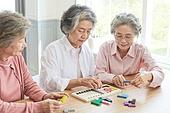 노인 (성인), 노인여자 (성인여자), 공부, 교육 (주제), 퍼즐 (레저게임), 치매