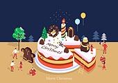케이크, 크리스마스 (국경일), 연례행사 (사건), 베이커거리, 크리스마스케이크, 사람모양생강쿠키 (생강쿠키)