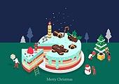 케이크, 크리스마스 (국경일), 연례행사 (사건), 베이커거리, 크리스마스케이크, 사람모양생강쿠키 (생강쿠키), 눈사람