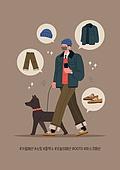 겨울, 사람, 패션, 아이콘, 패셔너블, 마스크 (방호용품), 애완견, 반려동물, 걷기 (물리적활동)