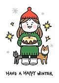 캐릭터, 겨울, 크리스마스 (국경일), 눈송이, 상업이벤트 (사건), 반려동물, 케이크 (달콤한음식)