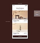 Graphical User Interface (Topic), 모바일템플릿, 웹모바일 (이미지), User Experience (Topic), 레이아웃, 쇼핑 (상업활동)