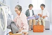 노인 (성인), 노인여자 (성인여자), 공동체 (컨셉), 실버라이프 (주제), 실버라이프, 미소