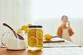 레몬청, 홈메이드, 만들기, 비타민C, 감기, 예방 (컨셉)