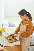 레몬청, 홈메이드, 만들기, 비타민C, 감기, 예방 (컨셉), 썰기, 미소