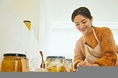 레몬청, 홈메이드, 만들기, 비타민C, 감기, 예방 (컨셉), 썰기, 미소, 선물 (인조물건), 글씨쓰기 (움직이는활동)