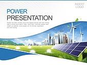 PPT,파워포인트,메인페이지,태양열판,풍력발전기,도시,건축물,비즈니스,산업