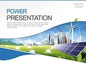 PPT,파워포인트,메인페이지,자연에너지,친환경,태양열판,풍력발전기,도시,건축물,산업,비즈니스,빛효과