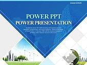 PPT,파워포인트,메인페이지,건축물,도시,풍력발전기,친환경,지구,글로벌,삼각형,프레임,화면분할