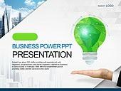 PPT,파워포인트,메인페이지,손,전구,그린,에코,아이디어,도시,건축물,비즈니스,산업